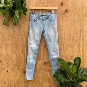 Hollister Light Denim Wash Super Skinny Jeans